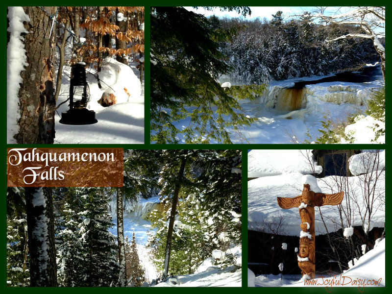 Tahquamenon Falls Winter Collage