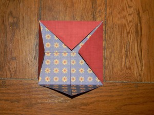 How to make a small gift box, fold corners to center