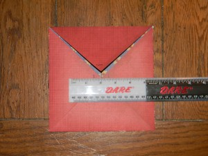 How to make a small gift box, step 2 fold up sides