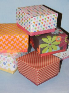 truffle box, cardstock box, how to make a box, gift box,