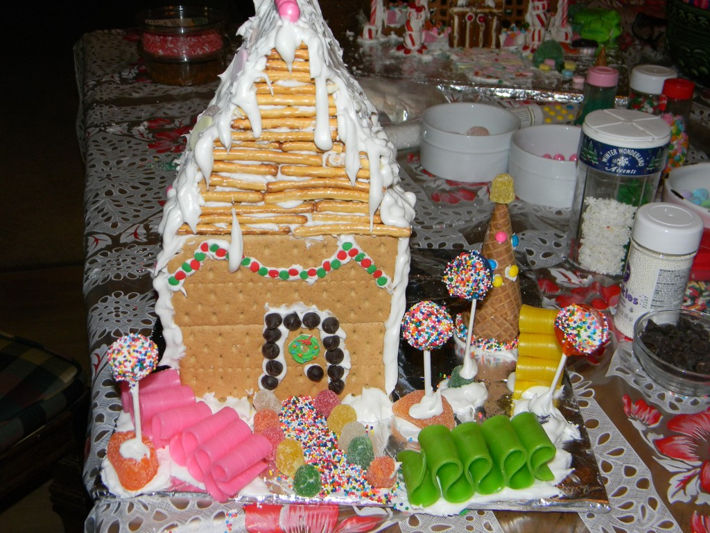 Lily's Ribbon Candy Gingerbread House