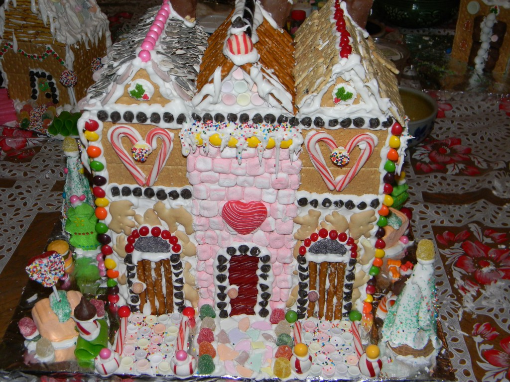 Gingerbread Townhouses Front View