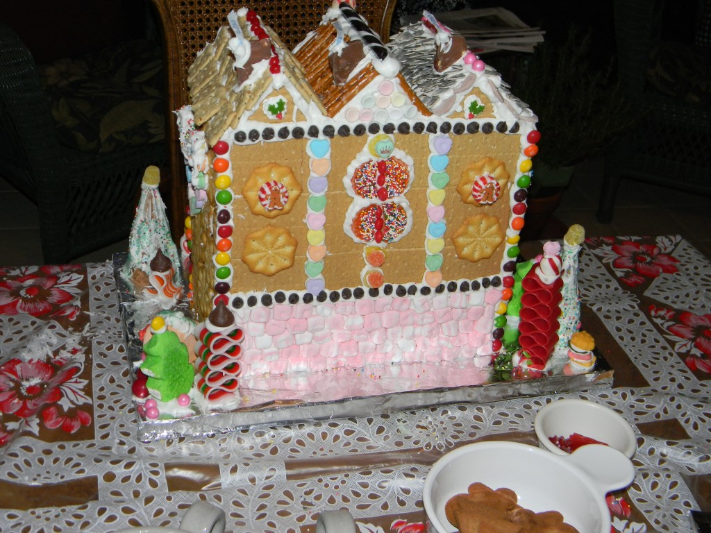 Gingerbread townhouse back