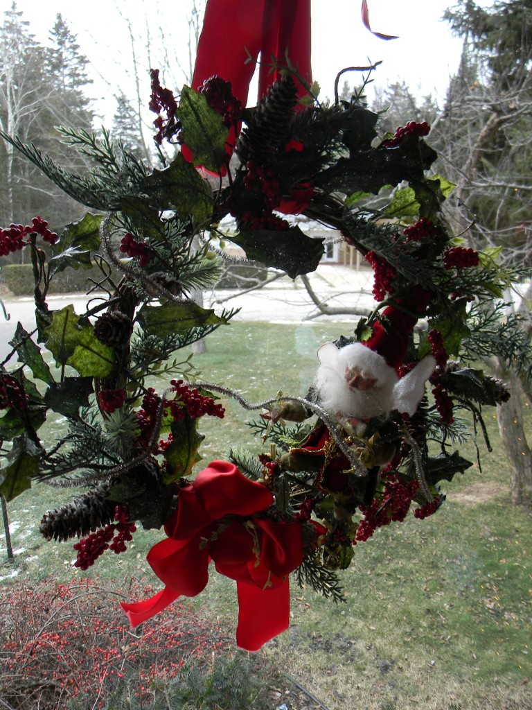 Chrismas decorations - Icy Winter Wonderland Wreath with decoration fairy