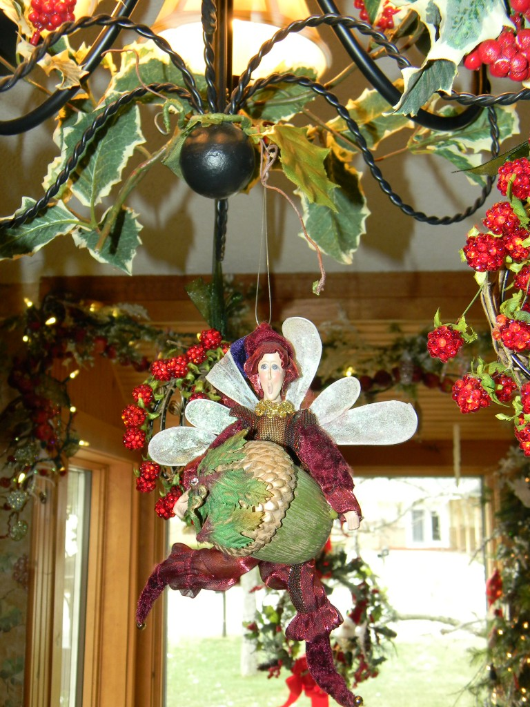 Acorn fairy, Icy Winter Wonderland Christmas Decorations