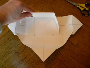 Step 5 - how to make a candy box, first fold