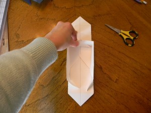 Step 5- How to make a candy box, 2nd fold