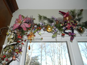 Christmas Decorations, magical fairy garland with crystalized fruit-left side