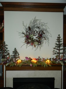 Christmas Decorations with Fairy Wreath and Mantle