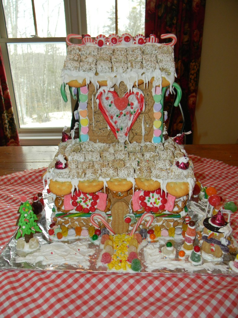 Large Gingerbread House Front Elevation
