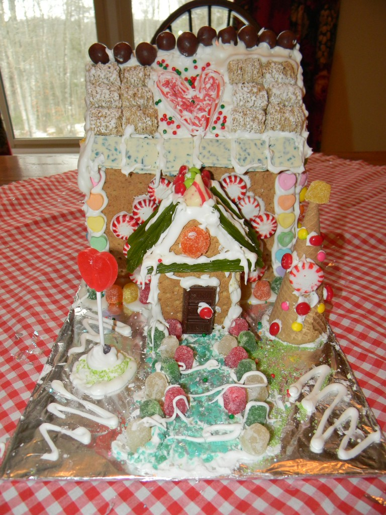 Lily's Gingerbread House Finished