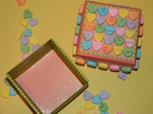 Conversation Heart Crafts, small gift box
