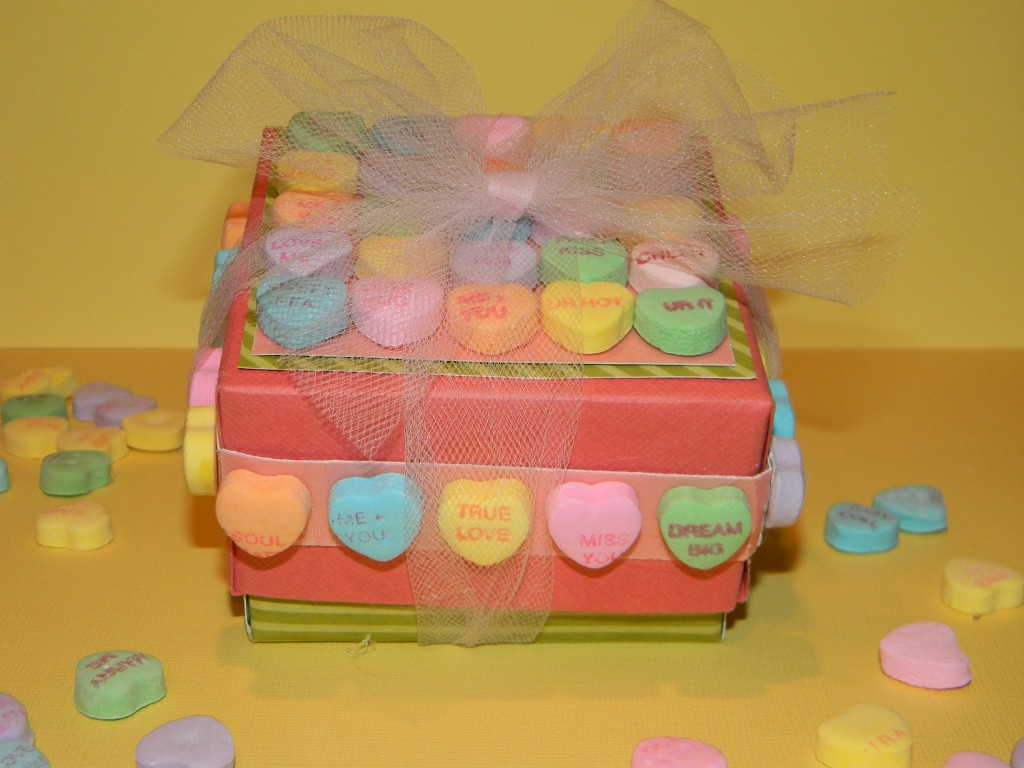 Conversation Heart Crafts - Small Cardstock Gift Box