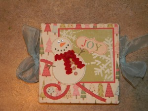 Mini Exploding Book, Snowman Cover