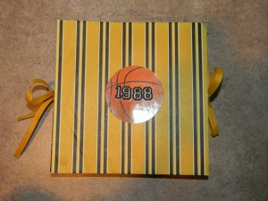 Exploding Book Back View, Basketball Theme