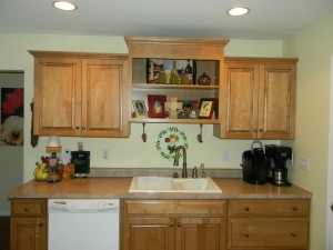 Decorating Above Kitchen Cabinets, before picture