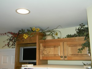Decorating Above Kitchen Cabinets, above fridgerator