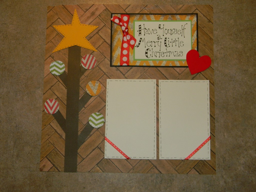 Christmas Scrapbook Layouts, Let Your Heart Be Light page 1