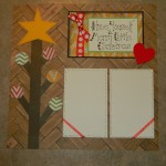Christmas scrapbook layout, scrapbook pages, Christmas scrapbook ideas,