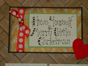 Christmas Scrapbook Layouts, Let Your Heart Be Light Title