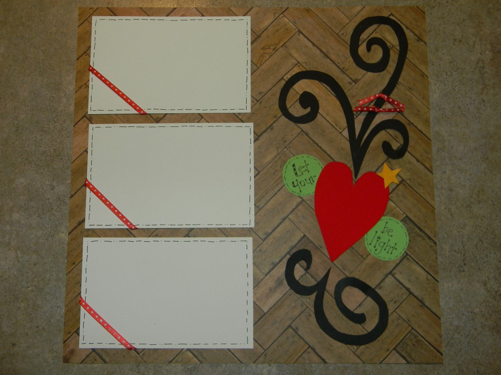 Christmas Scrapbook Layouts, Let your heart be light page 2