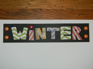 Winter Scrapbook Layout Title