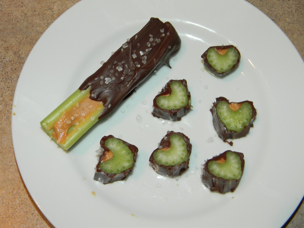 gourmet Chocolate dipped celery