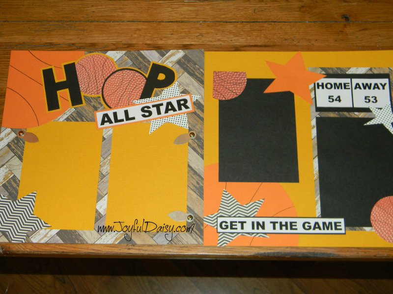 Basketball scrapbook layout, scrapbook pages, basketball, paper crafts