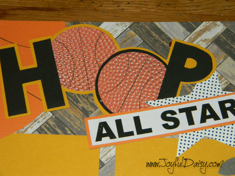 basketball scrapbook layout, basketball pages