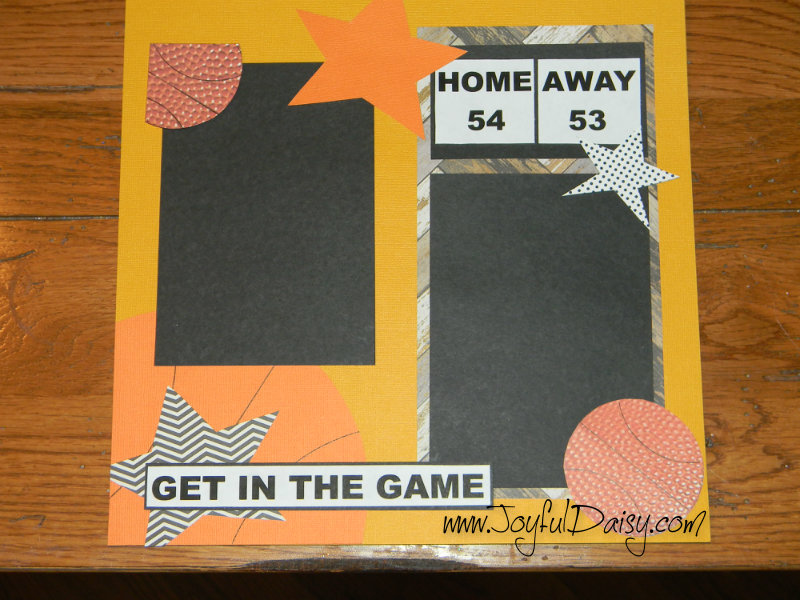 Basketball Scrapbook Layout, basketball scrapbook pages, paper crafts, basketball