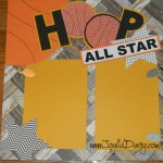 Basketball scrapbook layout, scrapbooking, scrapbook pages