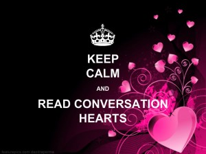 Keep Calm and Read Conversation Hearts 2