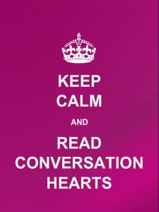 Keep Calm and Read Conversation Hearts