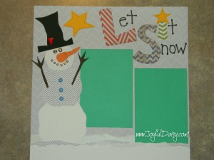 snowman scrapbook layout, scrapbooking ideas, scrapbook pages