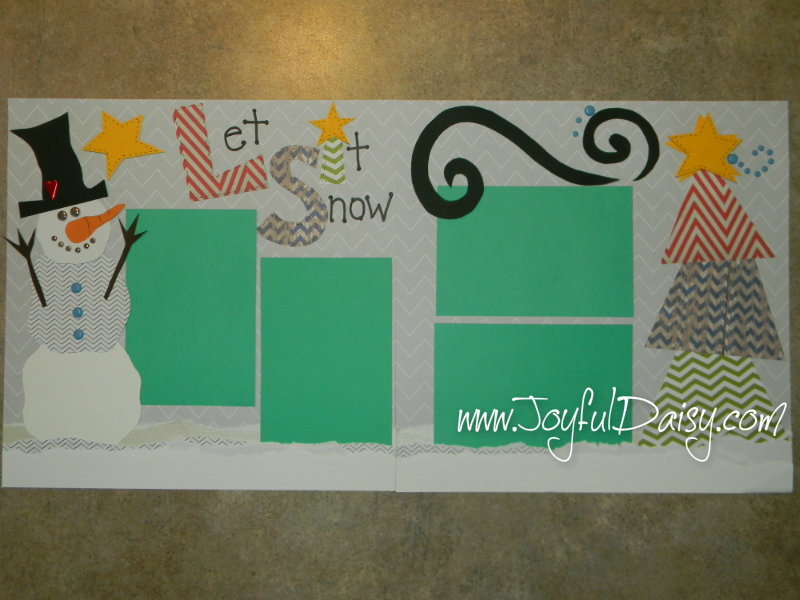 Winter Whimsical Snowman Scrapbook Pages, Joyful Daisy