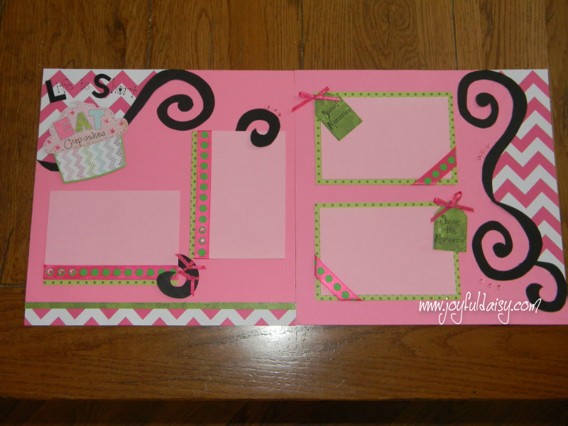 Cupcake Scrapbook Layout