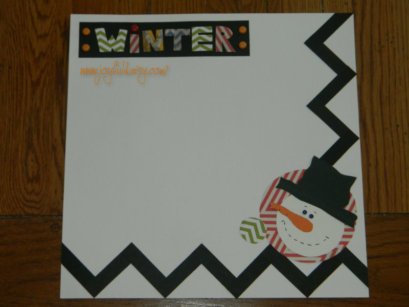 Winter Scrapbook Layout, right page