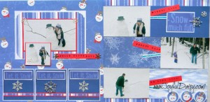 winter scrapbook layout, snowman scrapbook ideas, scrapbooking,scrapbook pages