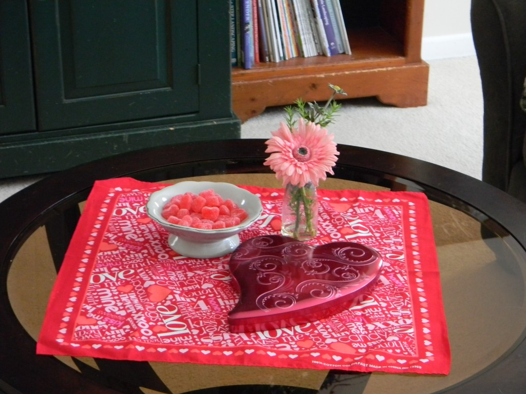 Valentine Decorations-living room table
