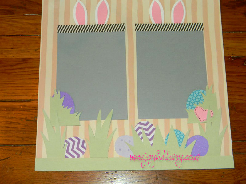 Easter Bunny Scrapbook layout page 2