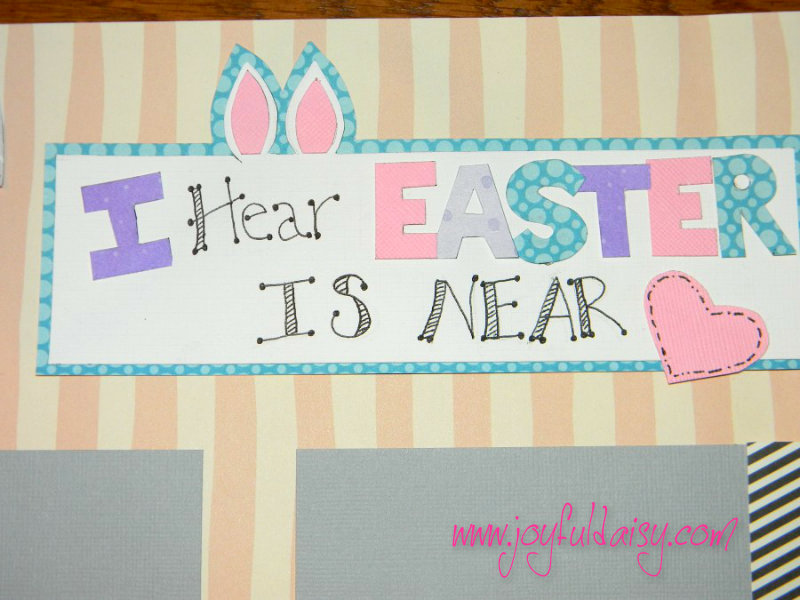 Easter Bunny Scrapbook Title