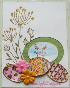 rubber stamped cards, Easter