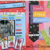 scrapbook pages, scrapbook layout,