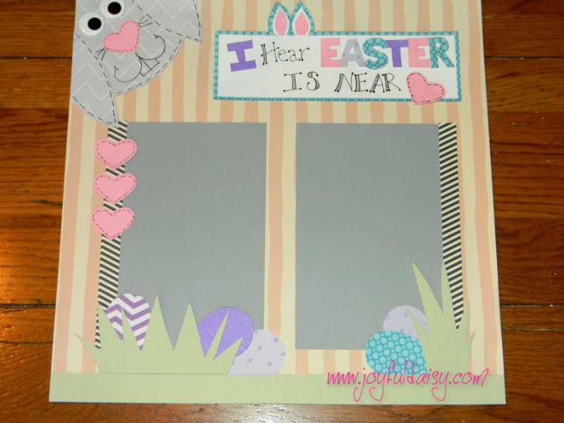 Easter Bunny Scrapbook page 1