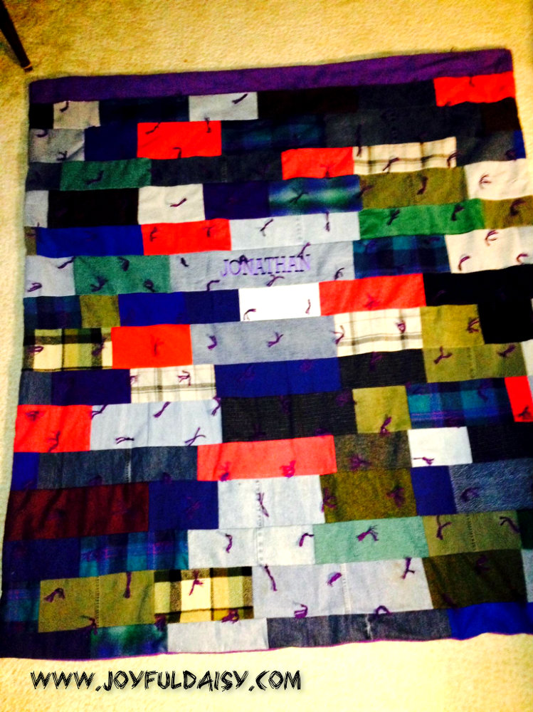 recycled jean quilt