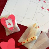 red licorice, white chocolate, white chocolate dipped licorice, handmade envelopes, valentines