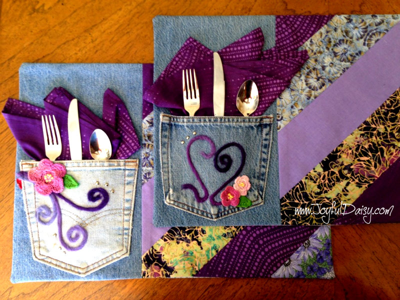 recycled jean placemats PZ
