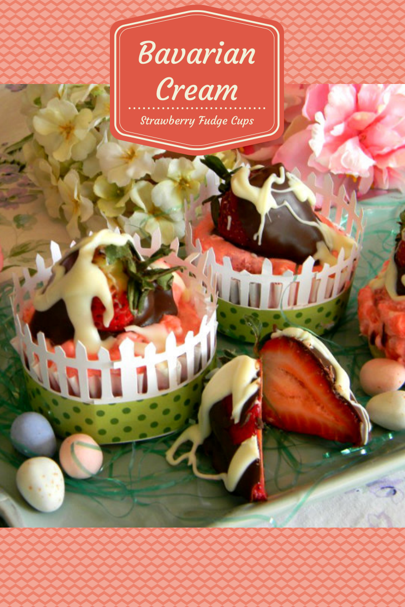 Bavarian Cream Strawberry Fudge Cut