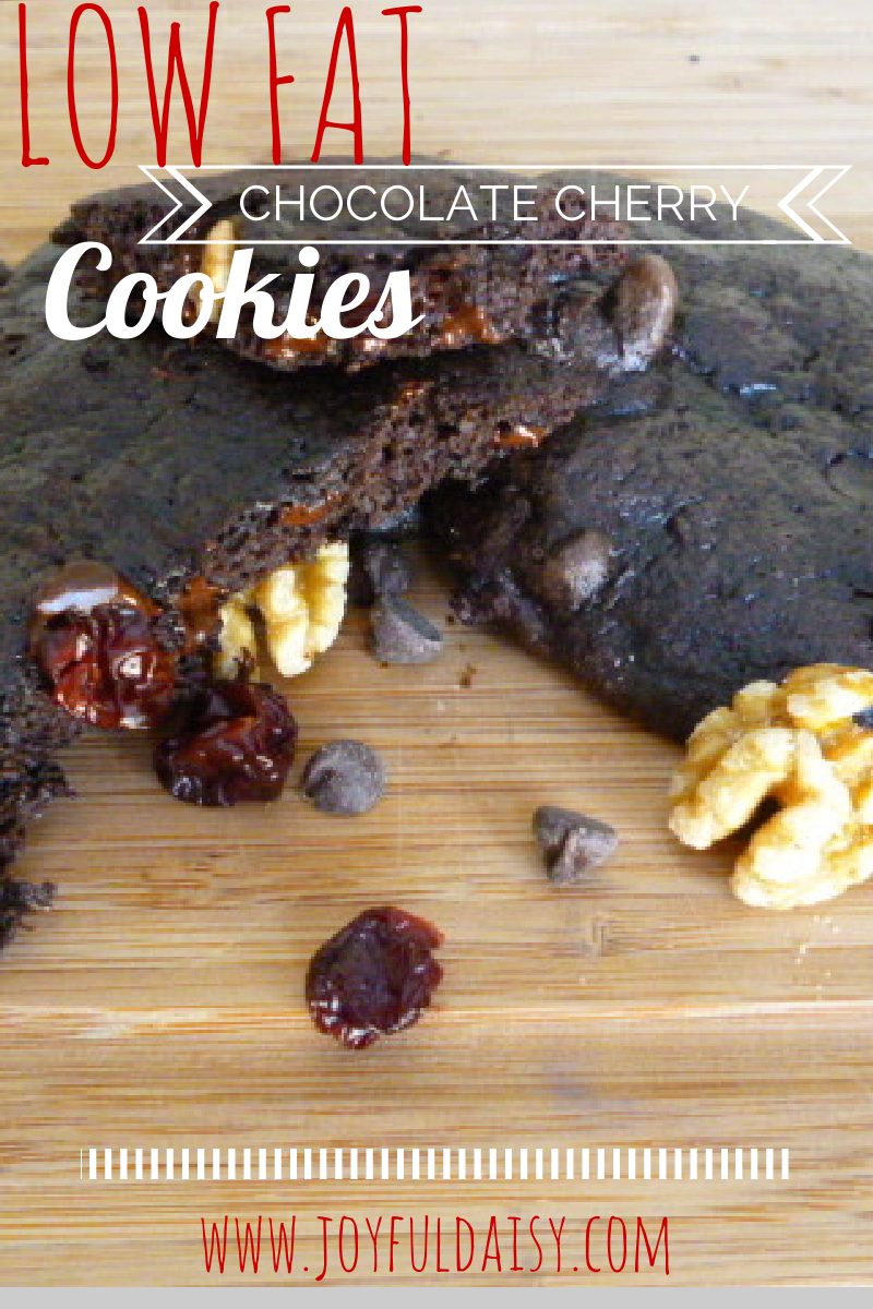 LOW FAT CHOCOLATE CHERRY COOKIES