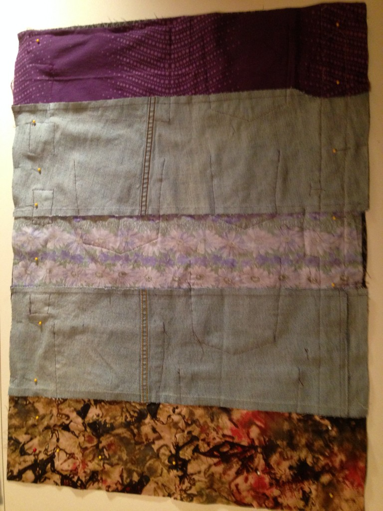 Recycled Jean layers for Accessory Organizer